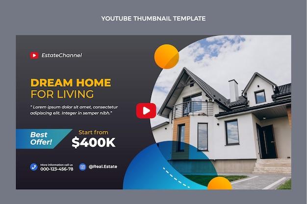 Miniatura de gradiente imobiliário do youtube