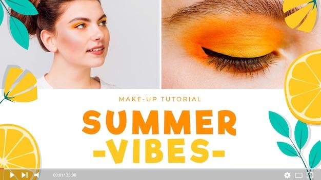 Miniatura de youtube de maquiagem