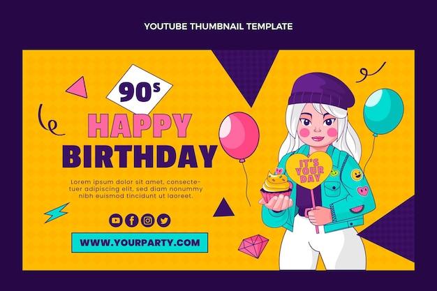 Miniatura desenhada à mão do youtube de aniversário