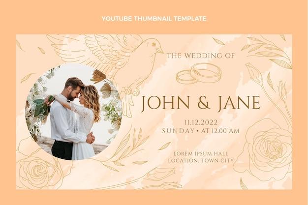 Miniatura desenhada à mão do youtube do casamento