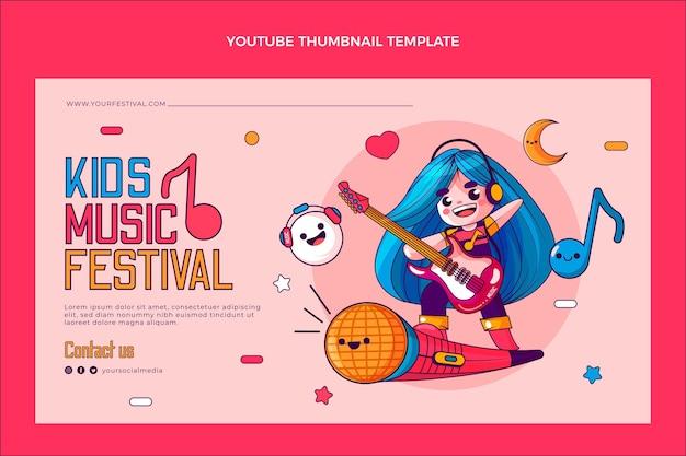 Miniatura desenhada à mão do youtube do festival de música