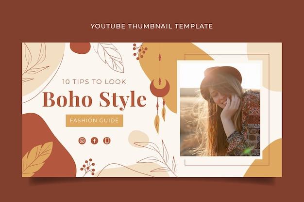 Miniatura detalhada do boho youtube