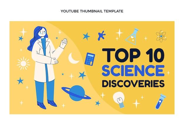 Miniatura do youtube da ciência do design plano