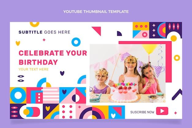Miniatura do youtube de aniversário de mosaico em estilo simples
