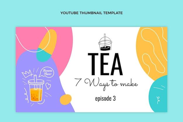 Miniatura do youtube de chá desenhada à mão