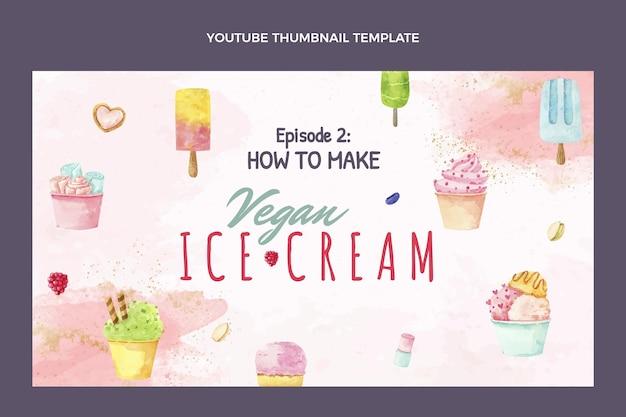 Miniatura do youtube de comida aquarela