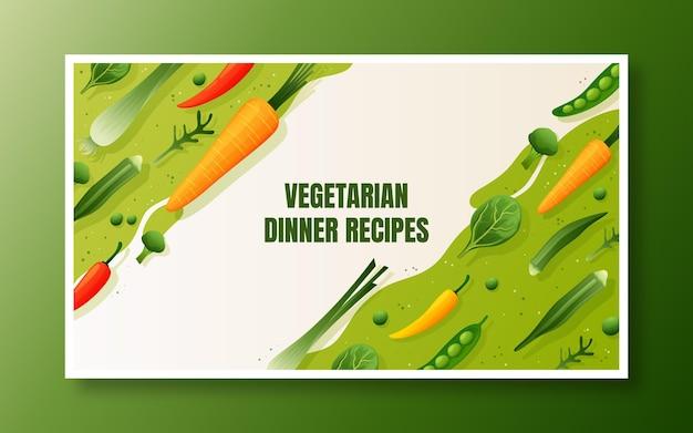 Miniatura do youtube de comida vegetariana gradiente