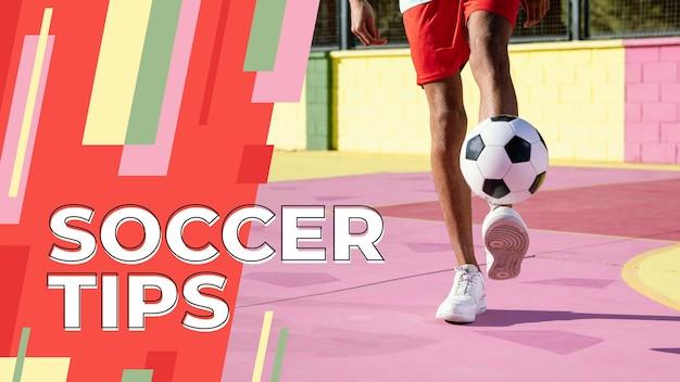 Miniatura do youtube de esporte abstrato plana