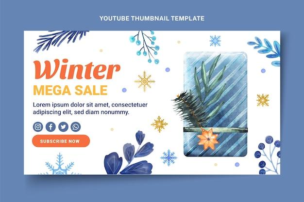Miniatura do youtube de inverno em aquarela