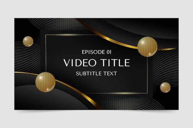 Miniatura do youtube de luxo dourado gradiente