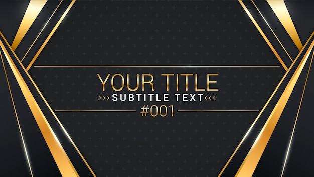Miniatura do youtube de luxo dourado