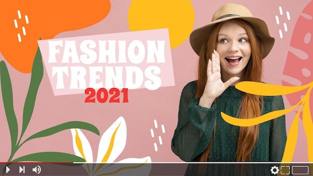 Miniatura do youtube de moda abstrata plana orgânica