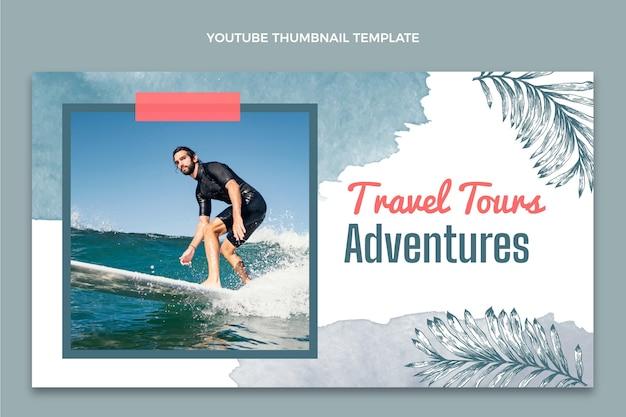 Miniatura do youtube de viagens em aquarela