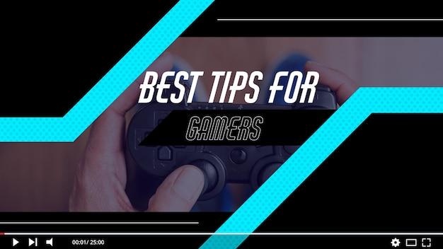 Miniatura do youtube de videogame para jogadores
