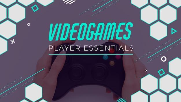 Miniatura do youtube de videogame