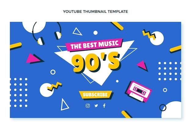 Miniatura do youtube do aniversário dos anos 90 desenhada à mão