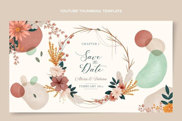 Miniatura do youtube do casamento boho em aquarela