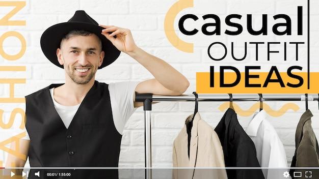 Miniatura do youtube do conceito de moda