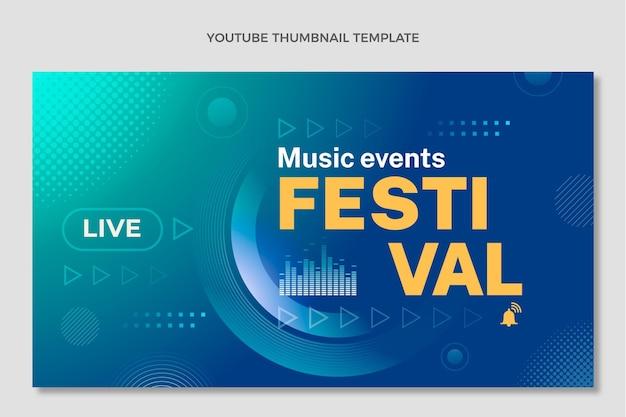 Miniatura do youtube do festival de música de meio-tom gradiente