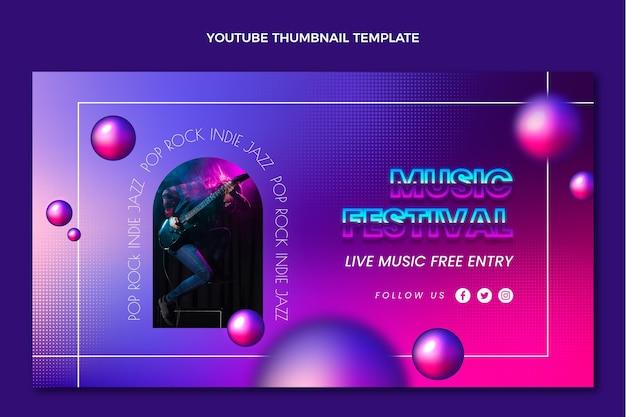 Miniatura do youtube do festival de música de textura gradiente