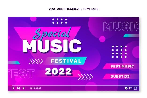 Miniatura do youtube do festival de música gradiente