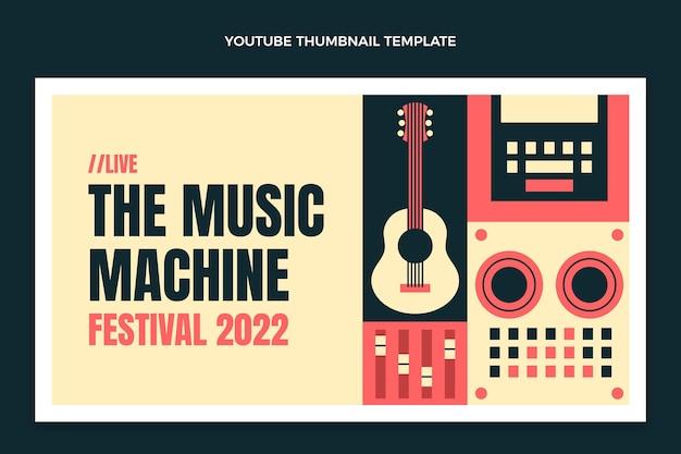 Miniatura do youtube do festival de música mosaico plano