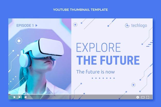 Miniatura plana de tecnologia mínima do youtube