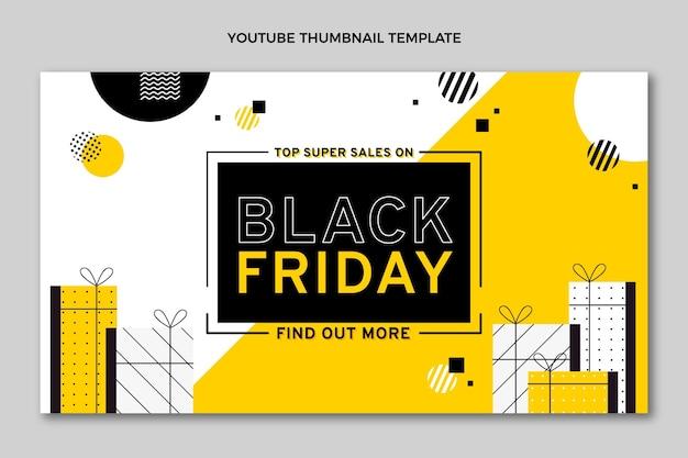 Miniatura preta plana do youtube de sexta-feira