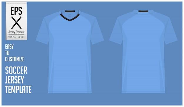 Mínima camisa de futebol ou design de modelo de kit de futebol