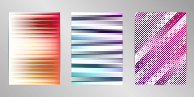 Mínima capa projeto fundo conjunto formato a4.