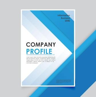Minimais de modelo de folheto empresarial moderno
