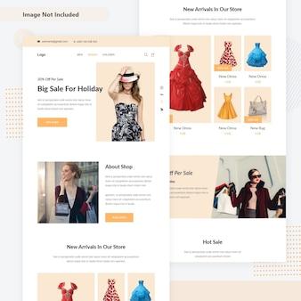 Minimal criativa woocommerce mini página da web