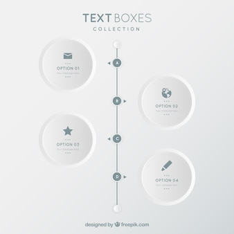 Minimalista coleção caixas de texto