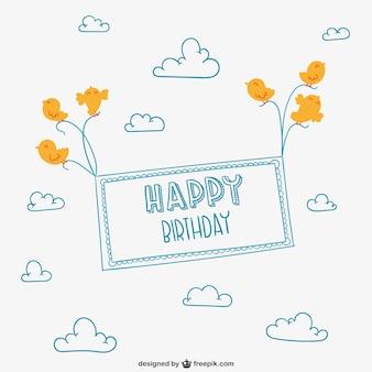 Minimalista feliz cartão de aniversário