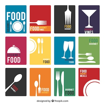 Minimalista restaurante listas de menu