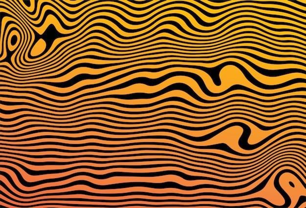 Mínimo padrão colorido com fundo de linhas curvas
