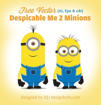 Minions amarelos personagens vetoriais