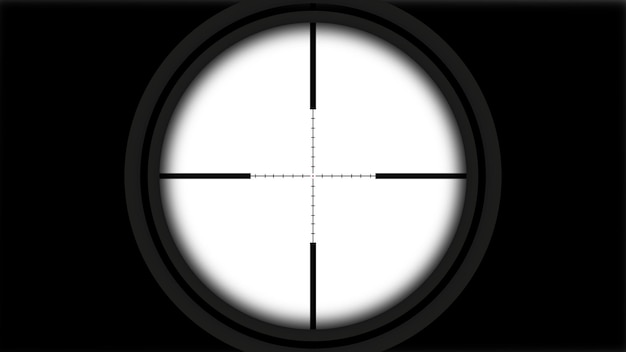 Mira de atirador realista com linhas
