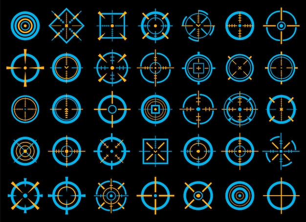 Mira, objetivo alvo, com o objetivo de ícones bullseye.