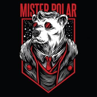 Mister polar illustration