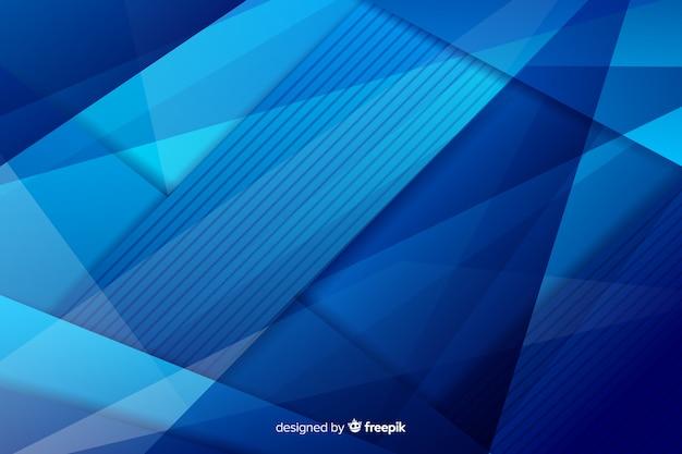 Mistura de formas caóticas de tons azuis