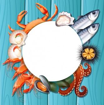 Misture o modelo de frutos do mar frescos
