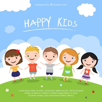 Miúdos felizes ilustração