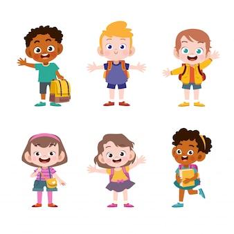 Miúdos prontos para a escola