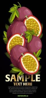 Mix de frutas com folhas