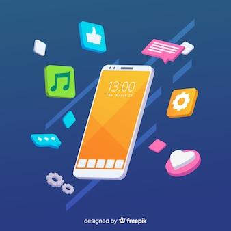 Mobile antigravidade com elementos