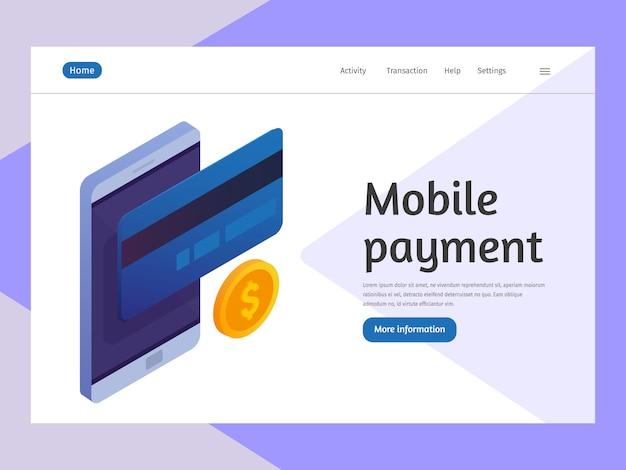 Mobile banking e pagamento móvel, transação em dinheiro.