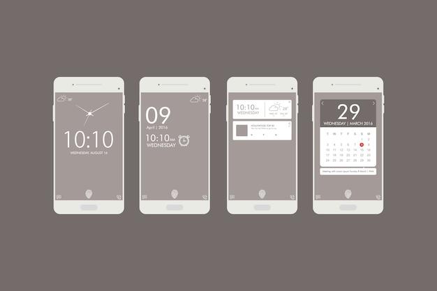 Mobile ui design para todos os fins