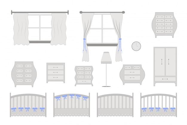 Mobília da sala de crianças
