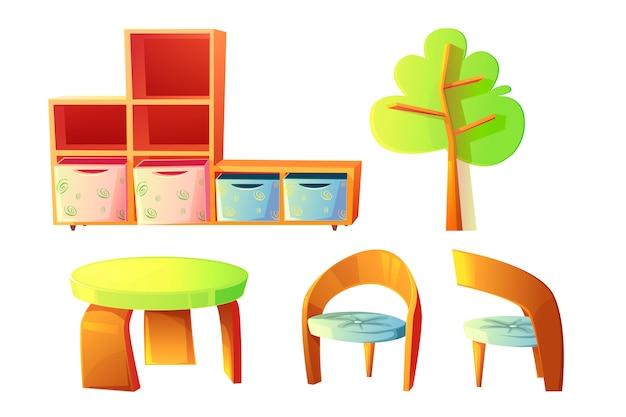 Mobiliário de jardim de infância para sala de aula para crianças